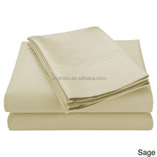 100% Cotton Egypt Plain Solid Color Wrinkle Free Bed Sheets