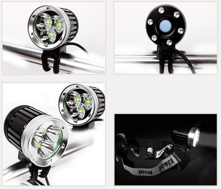 Best rechargeable led bike lights safety bicycle headlight