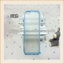 For iphone5 decorate case,High quality OEM Two Color Flexible Durable TPU Case for iPhone 5 5G