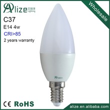 high quality 220V dimmable sharp C37 4w E14 led candle bulb