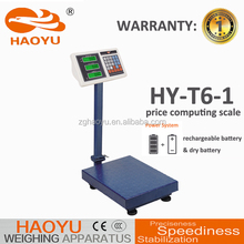 haoyu tcs electronic price platform scale manual china, platform weighing scale 300kg CCC CE certified