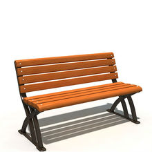 commercial garden wood benches in public
