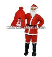 Wholesale Red Full Suit Santa Claus Father Christmas Costume