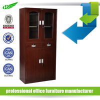 Power coated high quality modern unique steel filing cabinets with glass door /chinese display cabinet
