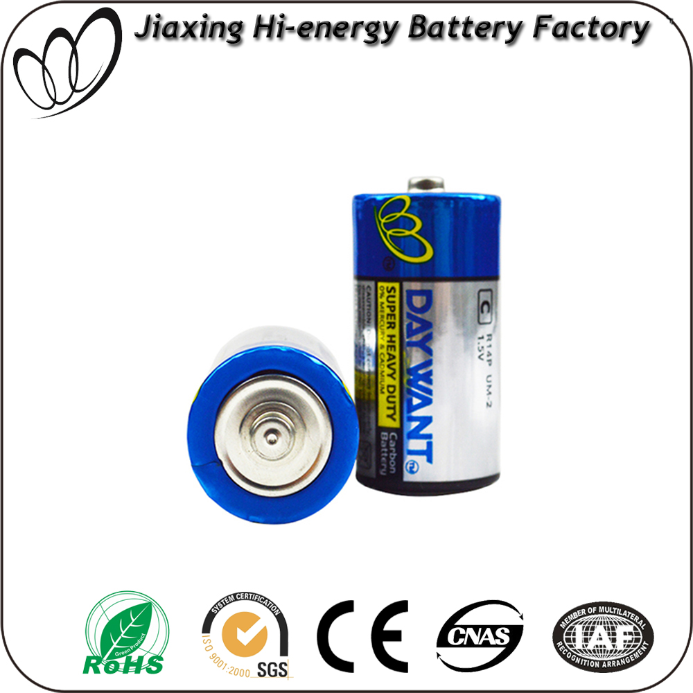 Factory Wholesale r14 um-2 1.5v dry battery c size