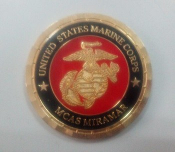 Custom 3D Gold Plated Challenge Coins Subermarine coin