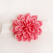 S33156W Baby Girls Lace Headband Big Chiffon Flower Infant Toddler Girl Headband