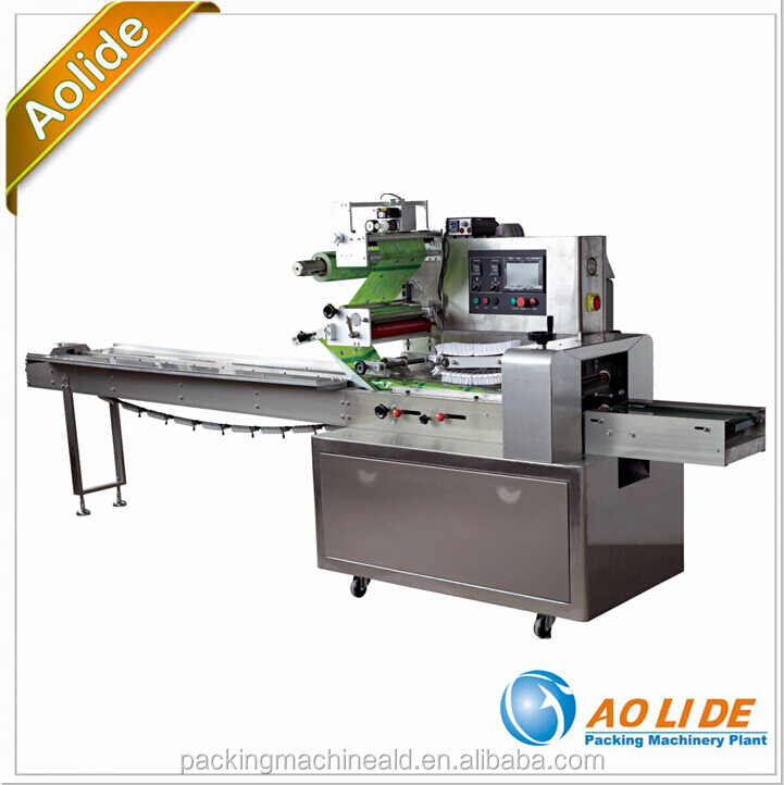 Automatic horizontal lollipop wrapping sealing and cutting rotary pillow packing machinery ALD-400
