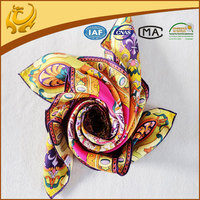 Latest style designer brand twill factory outlet silk scarf