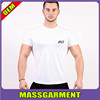 Tapered Body Plain White T Shirt