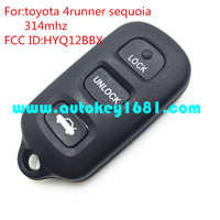 ms HYQ12BBX 3+1 button keyless entry car remote key 314mhz for toyota 4runner sequoia key