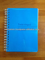 Plastic cover spiral notebook