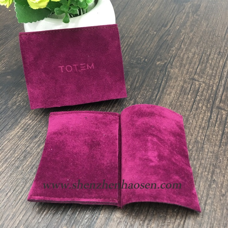 Luxury Purple Thick Suede Packaging Bag For Wacth