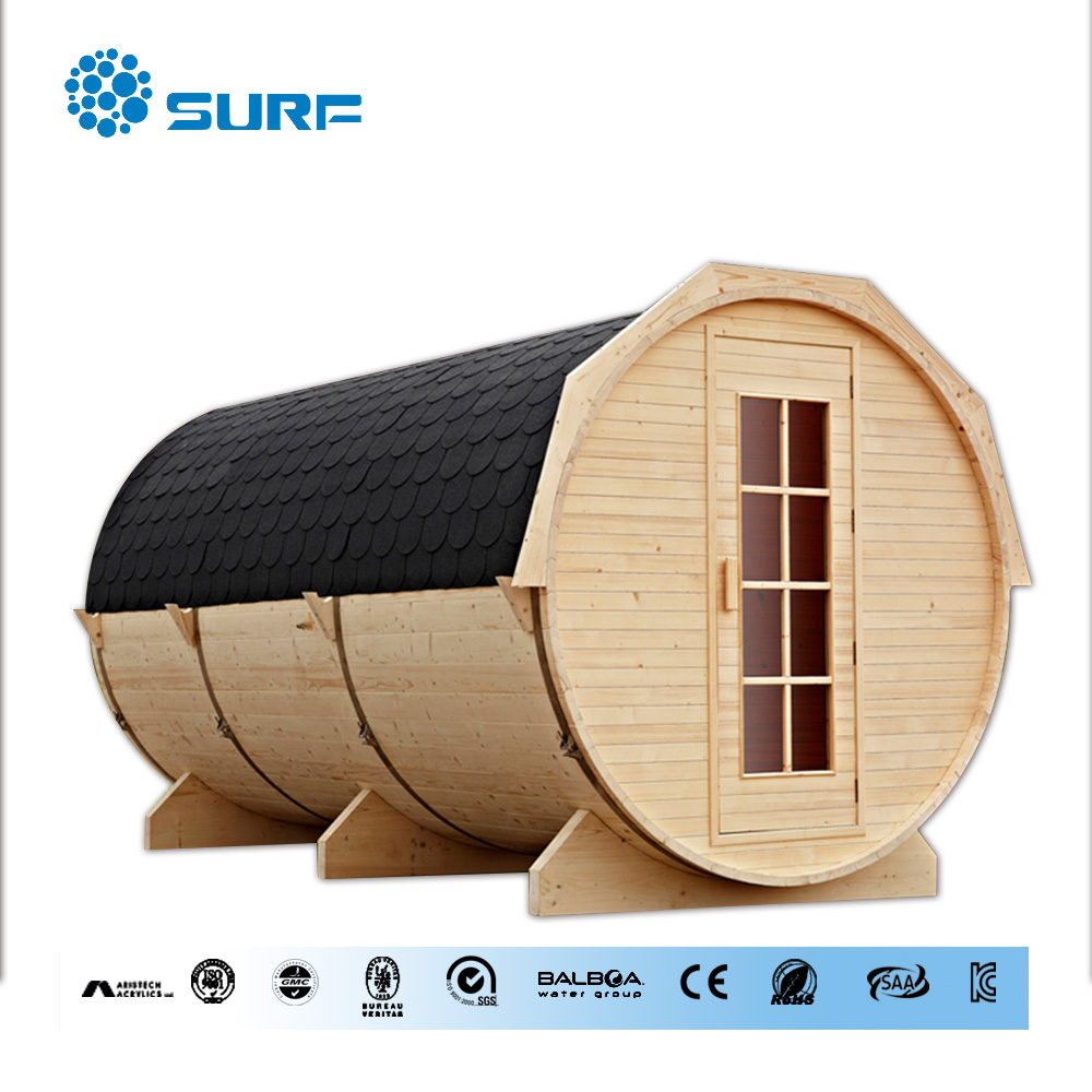 Hot sale new design outdoor sauna cabin dry sauna with canadian hemlock wood outdoor wet dry sauna