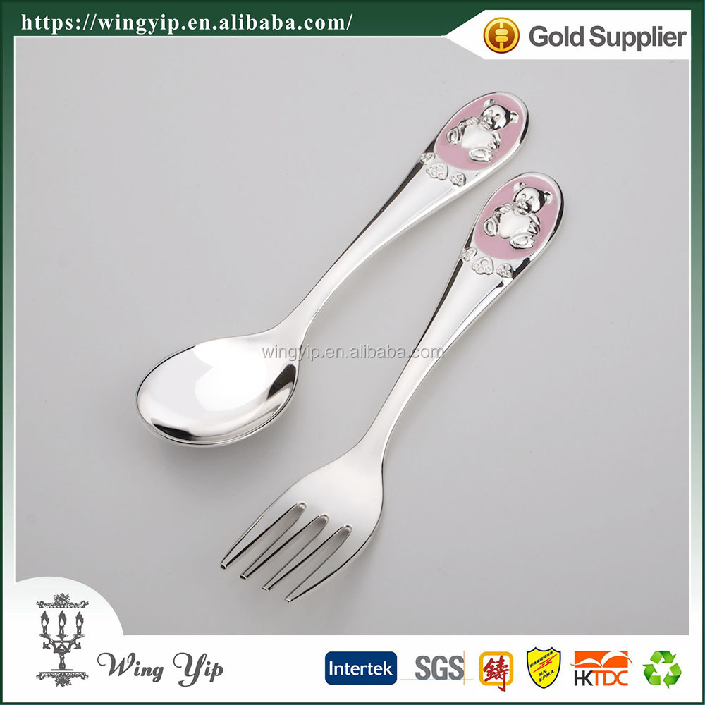 Wholesales manufacturer Baby Souvenir Baby Chrome Plated Cutlery