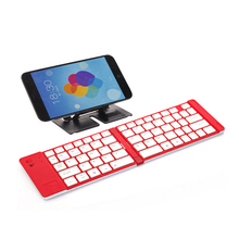 Ultra Thin Universal Wireless laptop mini Bluetooth Keyboard foldable for Android ISO Windows Tablet PC