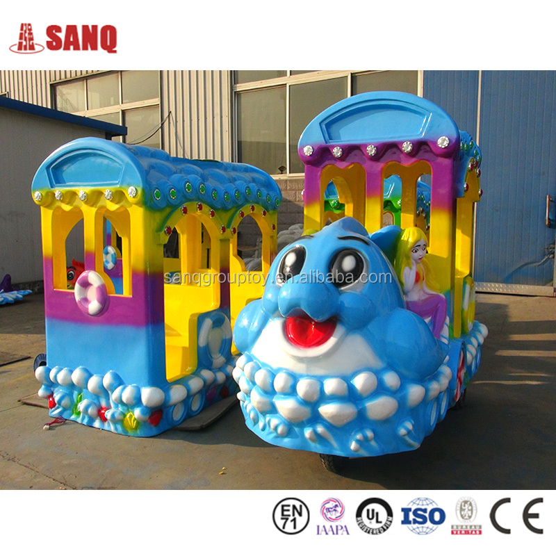 Christmas Carnival mini Electric Track Train, small amusement park toy trains for kids