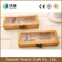 Wholesale handmade Factory new design cheap wooden pencil case