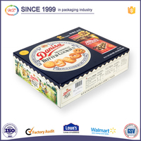 Glossy food grade paper cardboard pie boxes with custom logo printed
