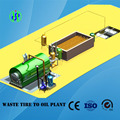 semi-continuous tire recycling machine without catalyst requirement