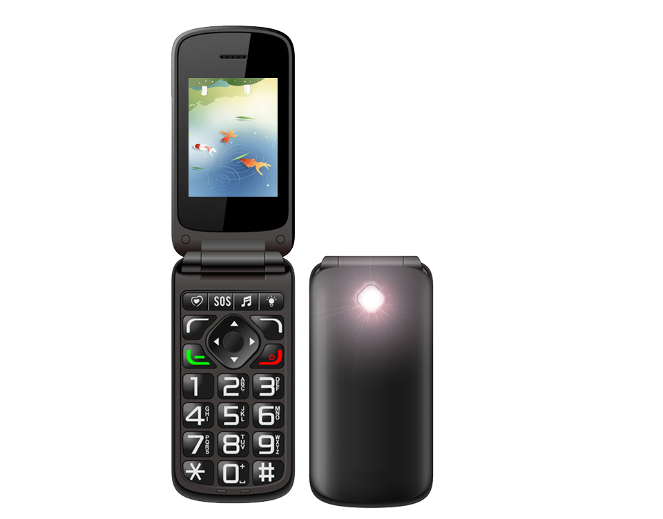 2.4inch Vkworld Z2 Fashion Flip Cell Phone Dual SIM Big KeyboardMulti-Languages Mobile Phone Suppport Camera