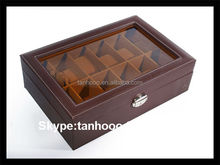 Black Pu Leather Watch Box With Velvet Inside
