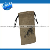 wholesale drawstring pvc lined jute hessian packaging bags