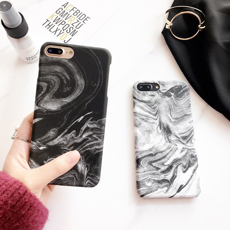 2018 Black Gray Mist Vapor Vapour Pattern Matte Hard PC Phone Case For iPhone 7 7plus 100% Fit Mobile Cover Shell
