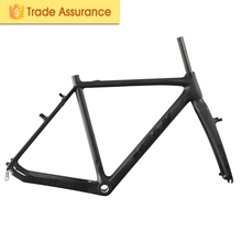 Ican New Arrival Carbon Fiber Cyclocross Frame With V-Brake Max Tire Size 700*28