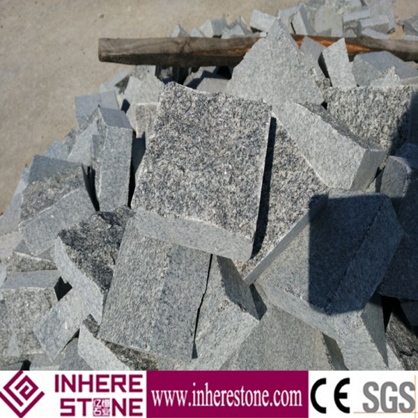 cheap grey granite paving stone for ourdoor cube stone