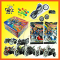 diy 3D motorcycle toy with tablet candy surprised