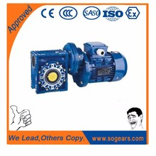 Dc worm gearmotor double reducer gear box