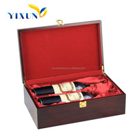 2015 Factory price high end luxury pu leather wine carrier for 2 bottles