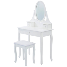 Home bedroom furniture white dressing table with mirror