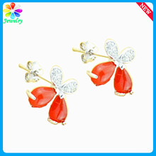Dazzling Natural Ruby Stud Sterling Silver Earring Eardrop For Women