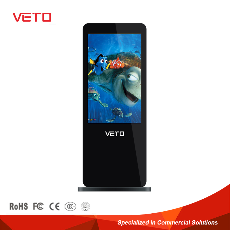 Indoor free standing lcd advertising display cheapest digital signboard
