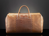 high quality luxury crocodile embossed cow leather duffle bag genuine leather luggage bag travelling bag