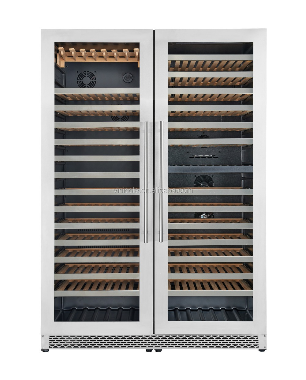 785L(343 bottles)HOT SELL the USA compressor wine cabinet with SS frame and Steel handle