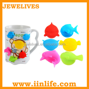 Wine accessories colorful silicone rubber wine glass suction