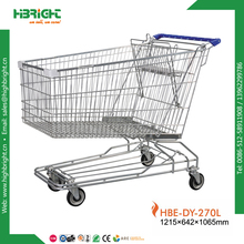HBE-DY-270L steel chrome plated shopping trolley with baby seat