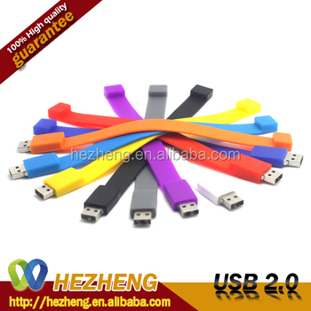2017 Promotion Bracelet 4GB Flash Drive USB Bulk cheap Customized available from 1GB to128GB