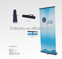 display stand roll up banner poster board with black rectangle side cover