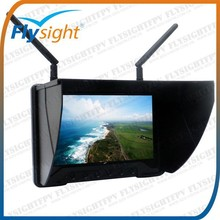 "H1338 5.8G Battery Powered 7"" HD LCD Mini FPV No Blue Screen Monitor DVR Recorder for DJI / Boscam / Immersion / Fatshark"
