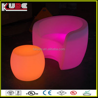 Modern design with soft light colorful led bar sofa chair