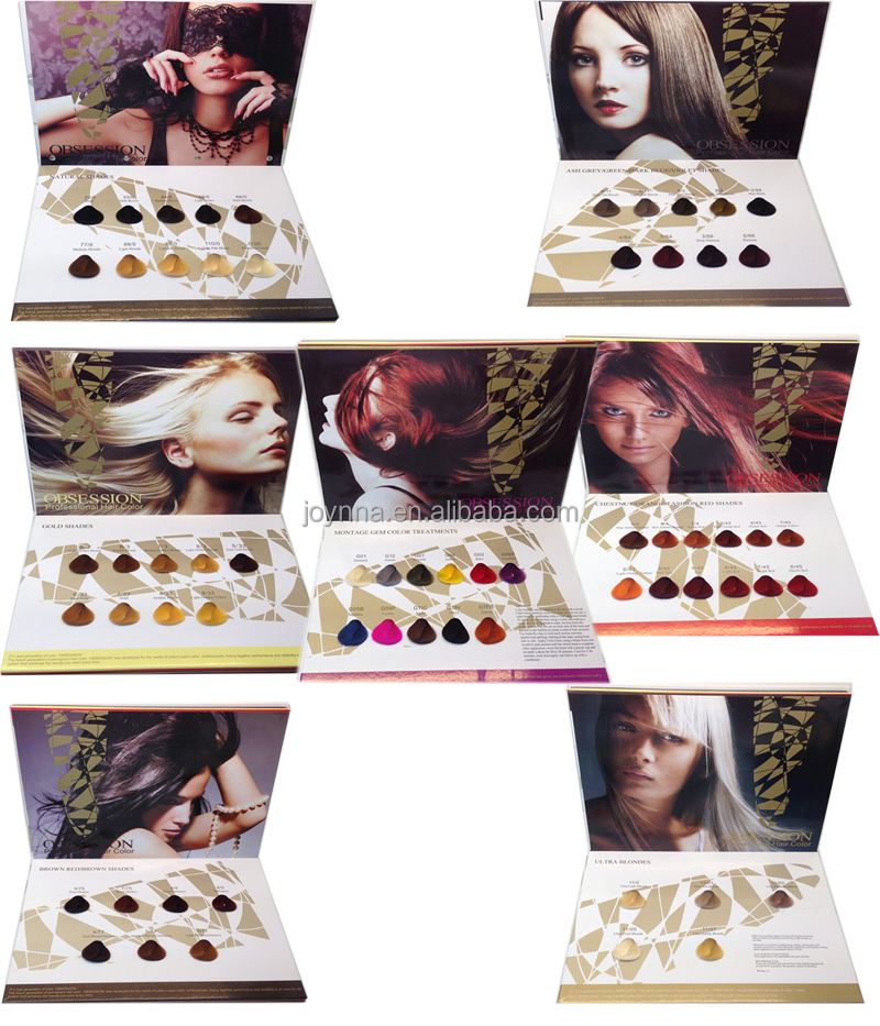 OEM color selector hair color chart manufacturers