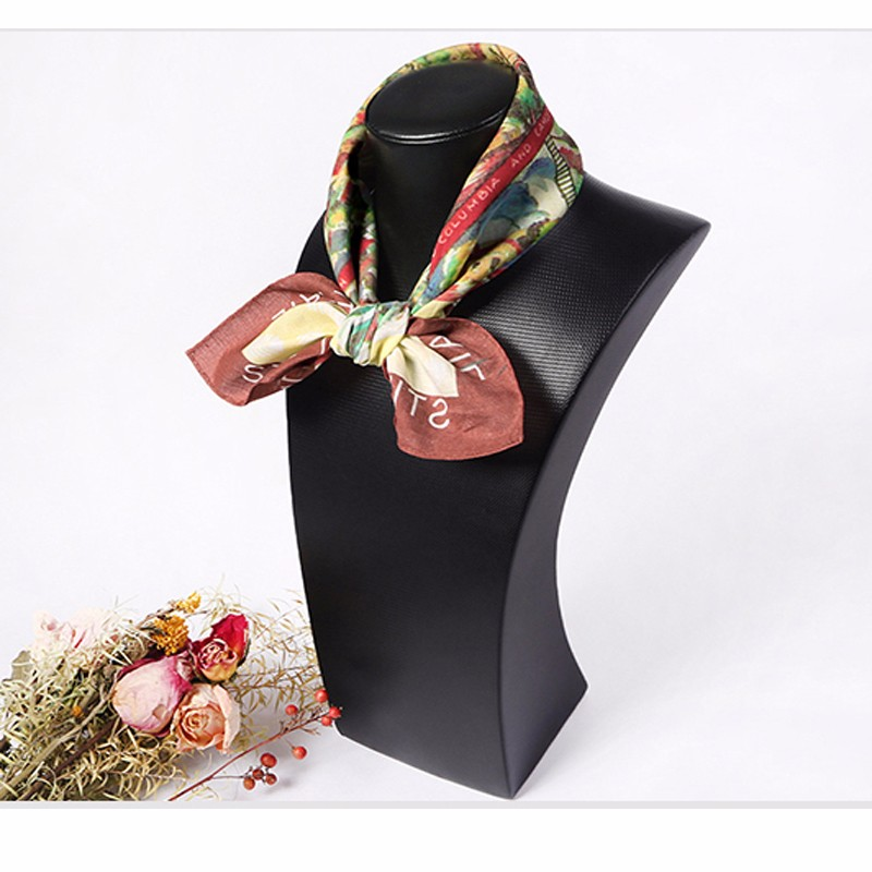 Colorful painting woman designer cotton neckwear