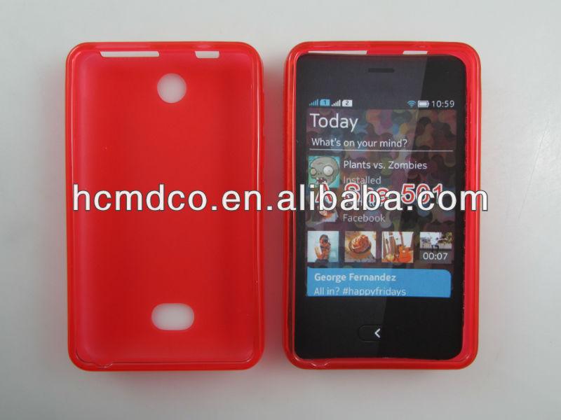 X wave matte TPU cell phone/mobile cover/case for Nokia Asha 501