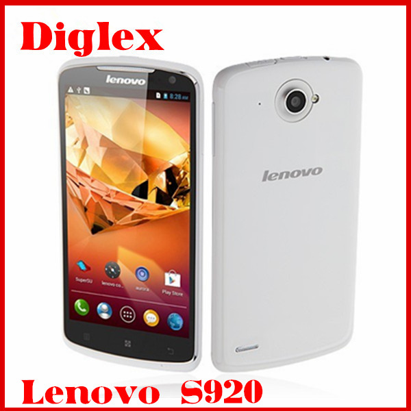 China Wholesale 5.3 inch Lenovo S920 Quad Core MTK6589 Android 4.2 Mobile Phone 1GB RAM 4GB ROM Dual Sim Card GPS 3G