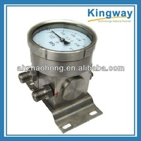 4''(100mm)dry or oil filled Dual diaphragm high static pressure differential pressure gauge