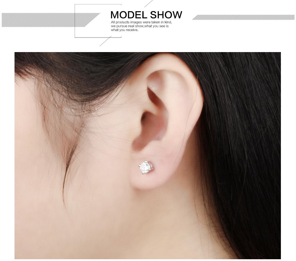 New Products 2019 Innovative Product White Stone Stud Earrings